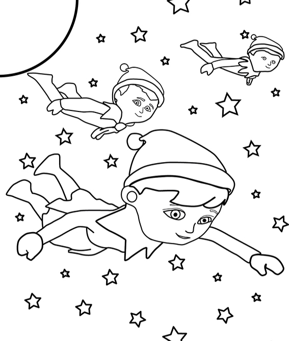 - Elf On The Shelf Pictures To Color - Coloring Home