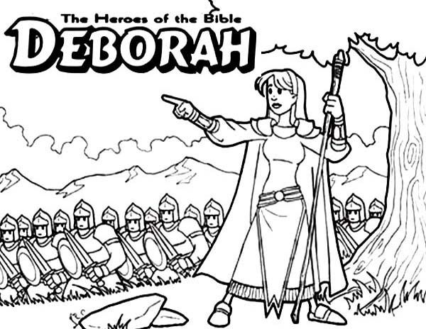 Deborah And Barak Coloring Page
