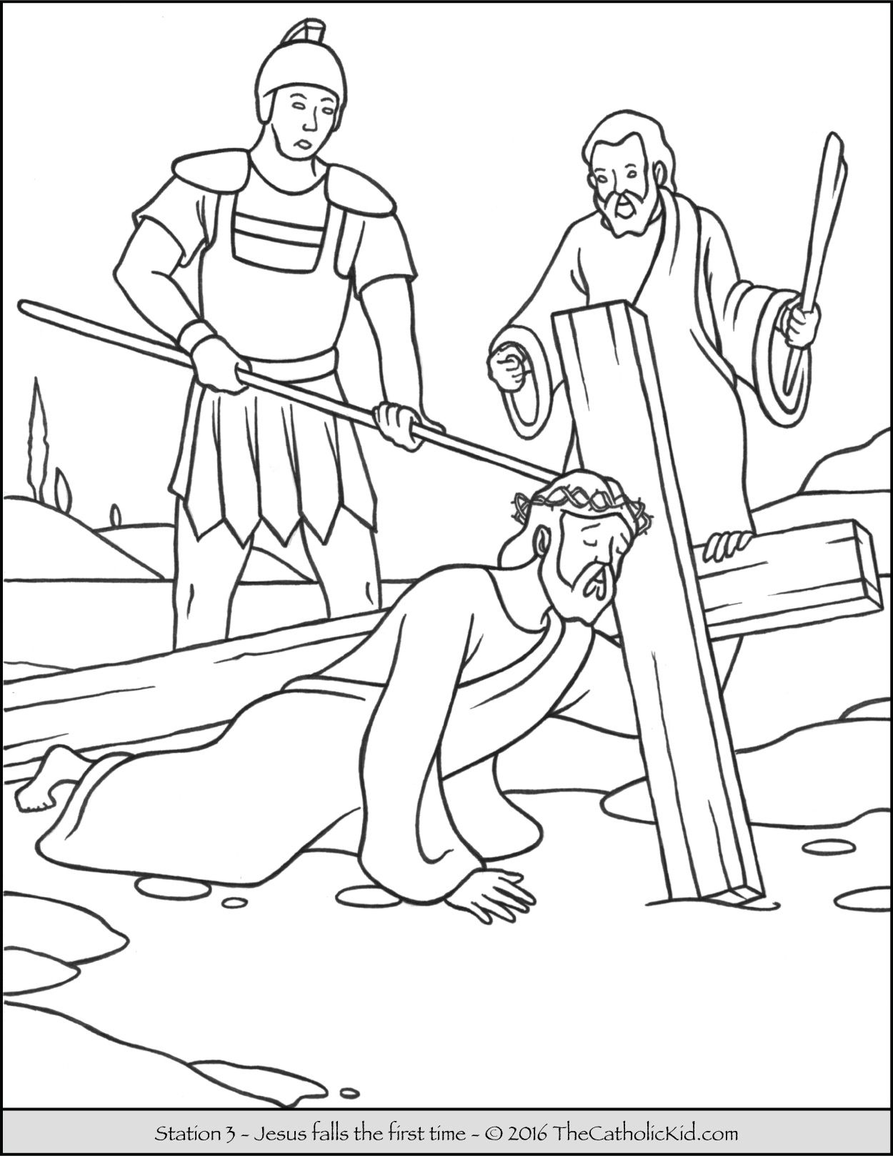 The stations of the cross coloring pages ~ Stations Of The Cross Coloring Page - Coloring Home