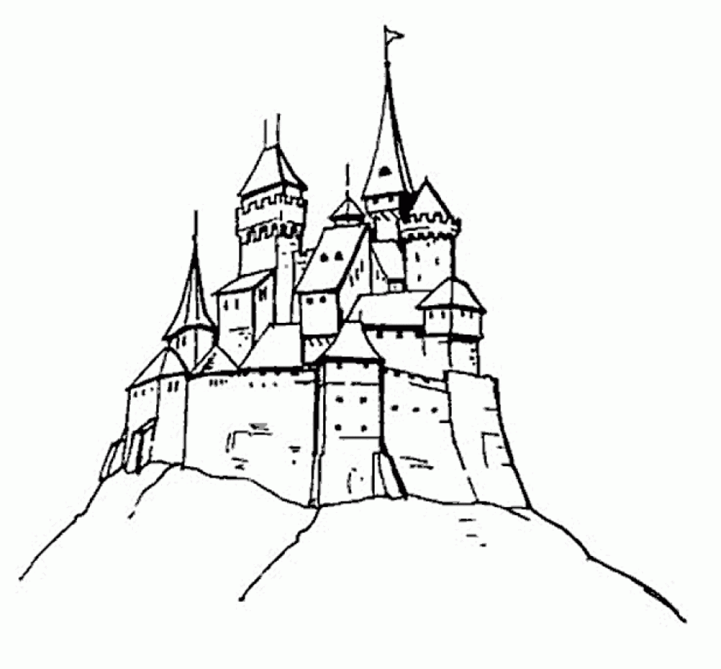 Disney Castle Coloring Pages Printable - Coloring Home