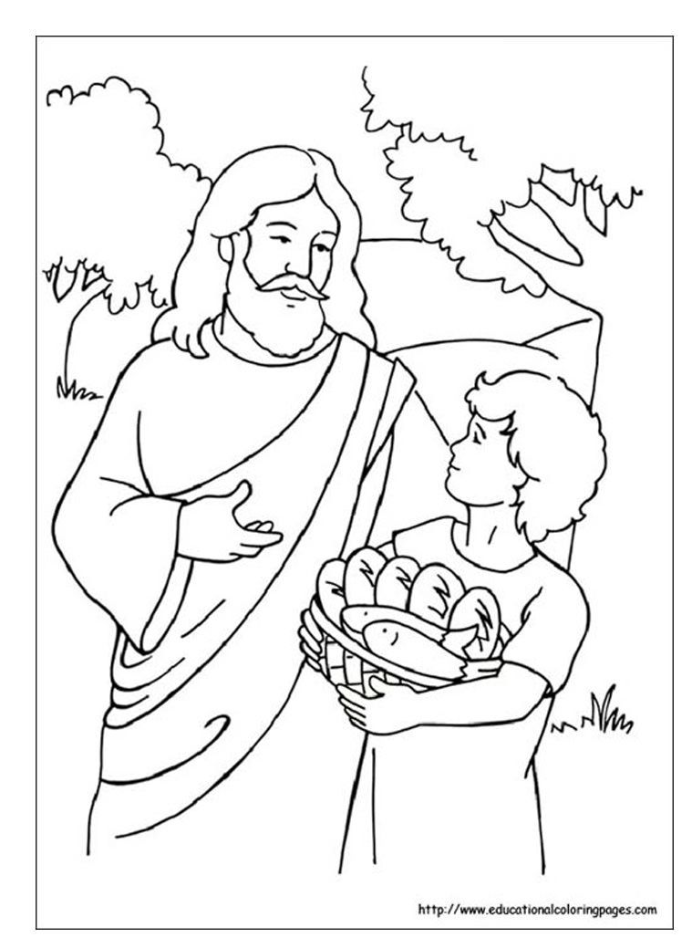 5 Loaves And 2 Fish Coloring Pages Coloring Home