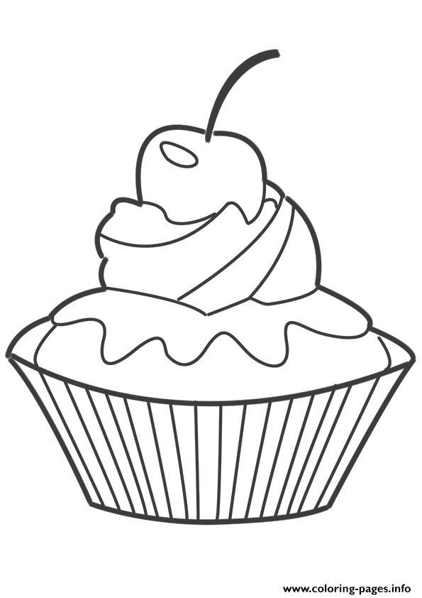 leaf coloring pages images cupcake - photo#35