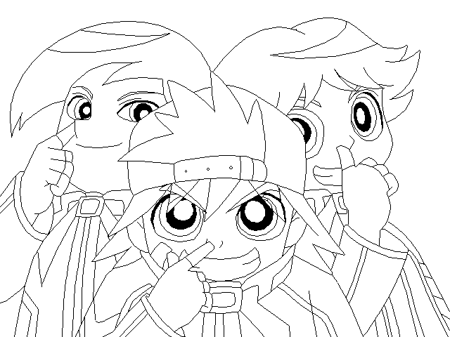 rowdyruff boys online coloring pages - photo#9