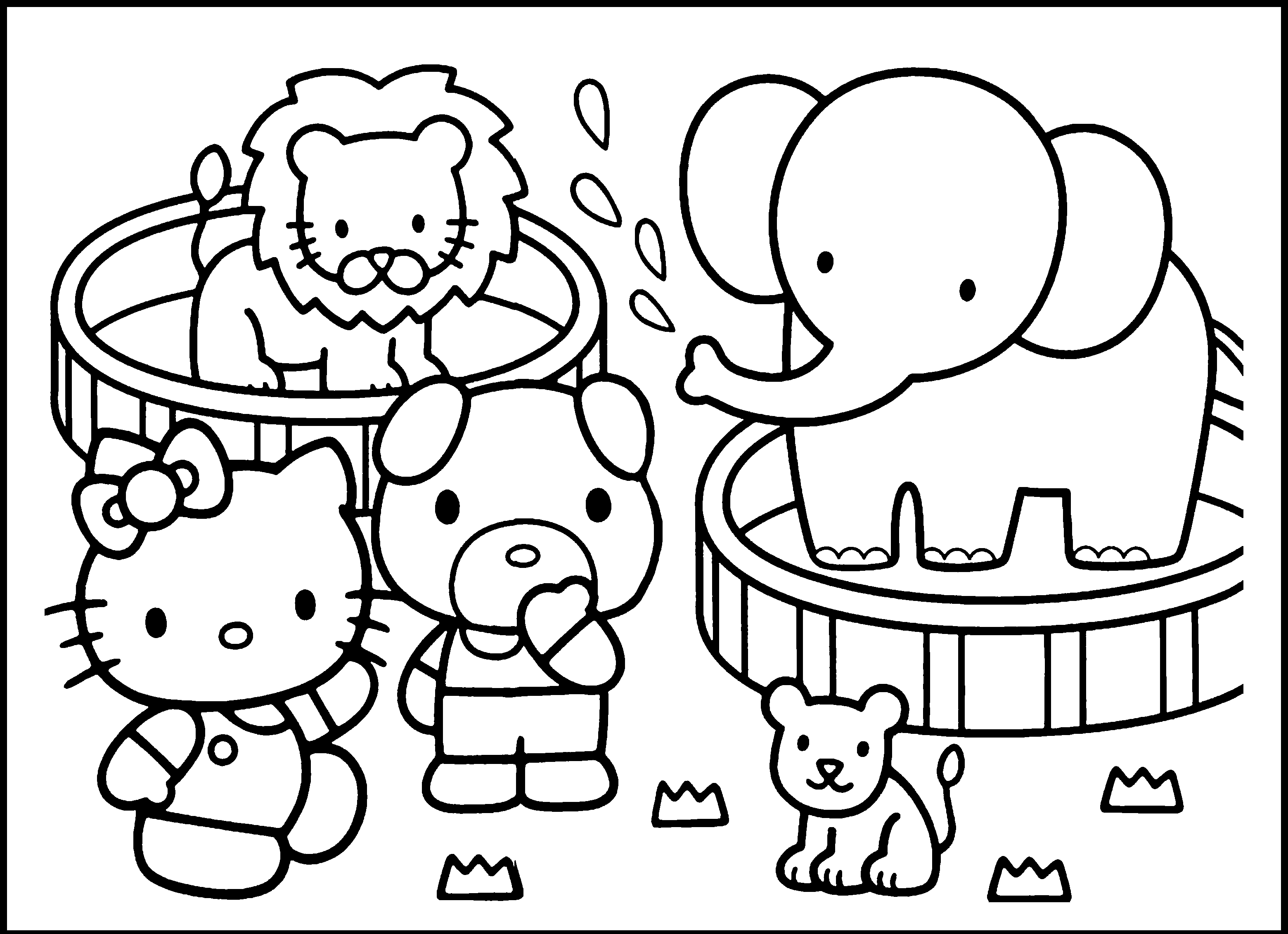 Zoo Animals Coloring Pages For Kindergarten : Preschool zoo coloring pages home