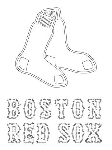 Free printable red sox coloring pages ~ Boston Red Sox Coloring Pages - Coloring Home