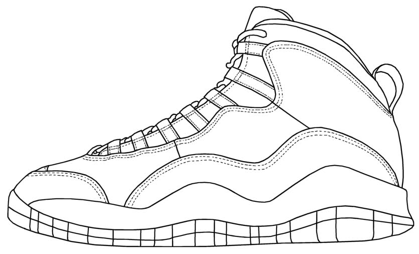 jordans shoes coloring pages - photo#22