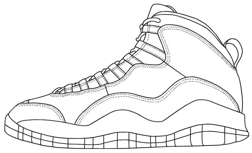 jordan coloring pages shoes - photo#4