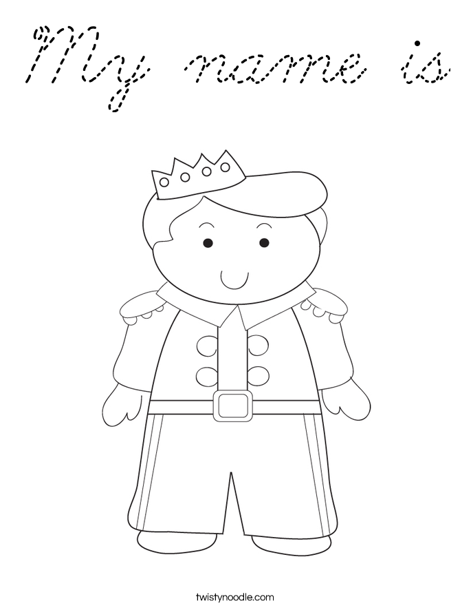Coloring Pages With Names : My name coloring pages page cartoon