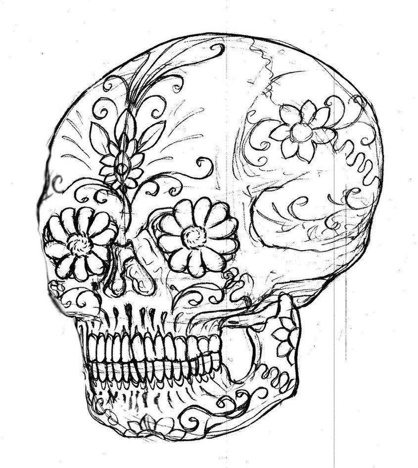 Free Printable Skull Coloring Pages | Free Coloring Pages