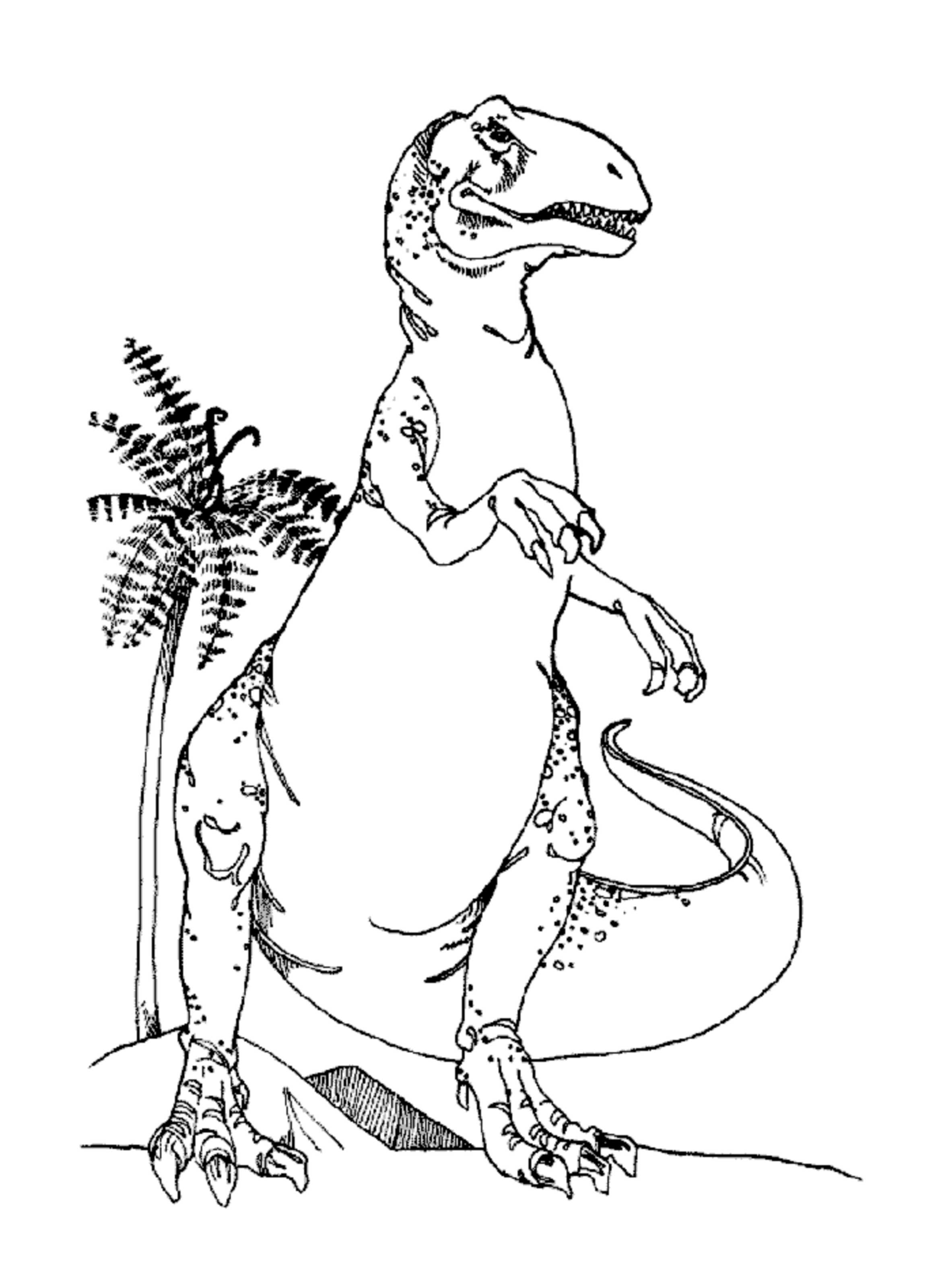 Cute T-rex Coloring Page - Coloring Home