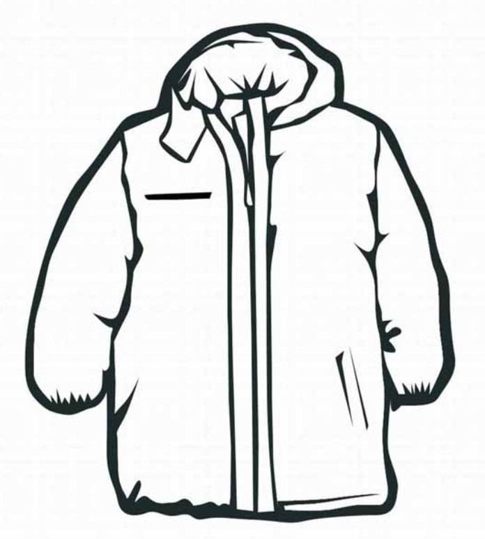 Children with winter cloths coloring pages coloring home for Winter coat coloring page