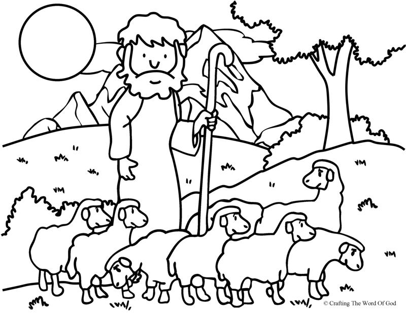 The Good Shepherd (The Lost Sheep)- Coloring Page Â« Crafting The ...