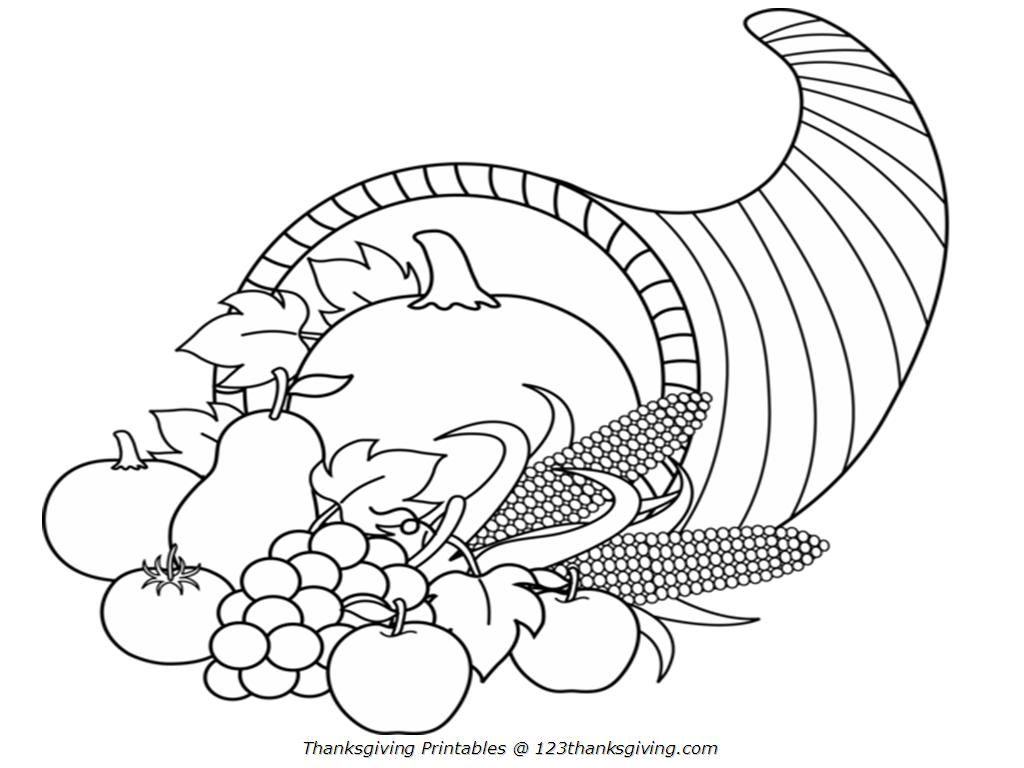 cornucopia coloring pages for kids - photo#12