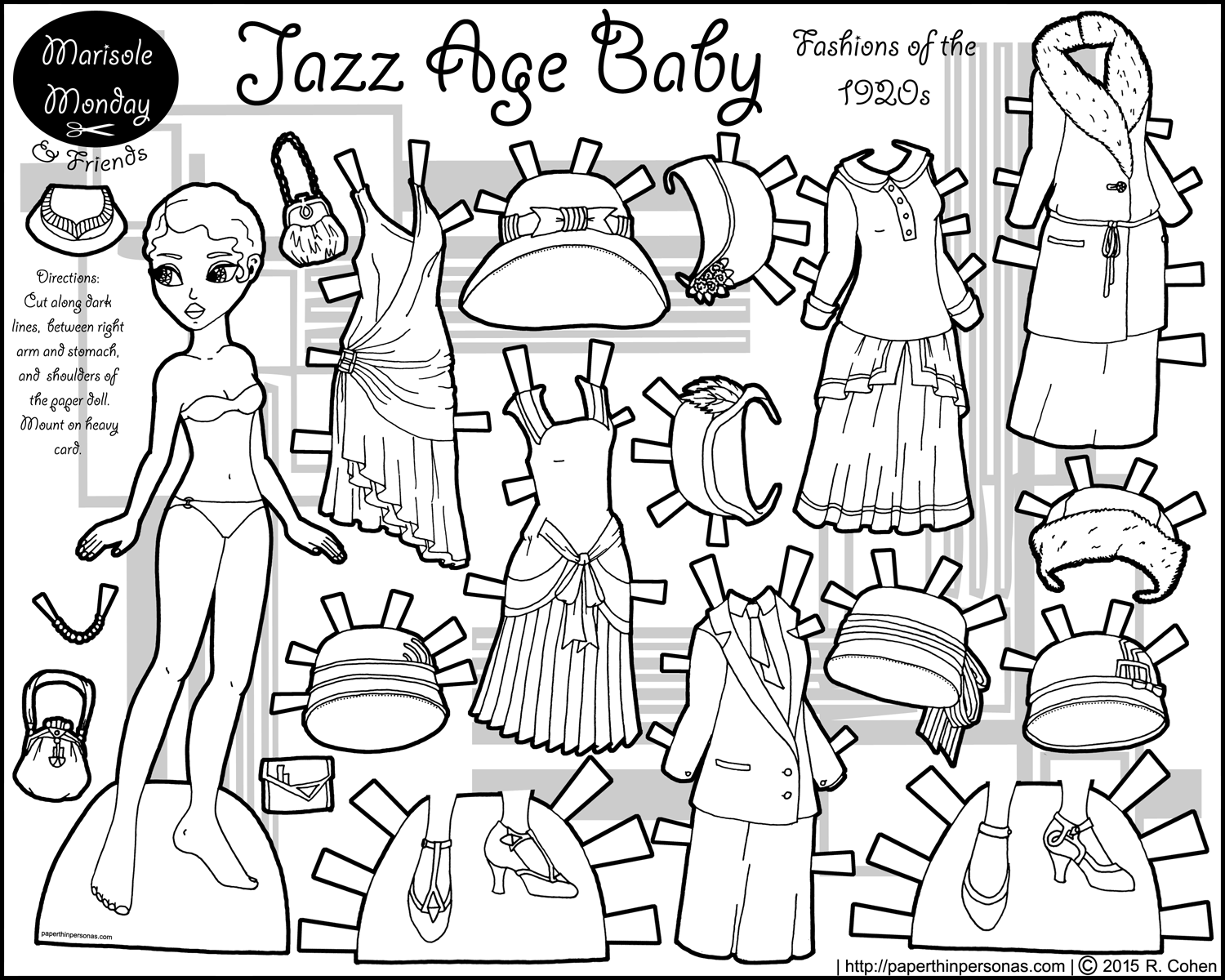 Baby Paper Doll Coloring Pages Coloring Pages For All Ages