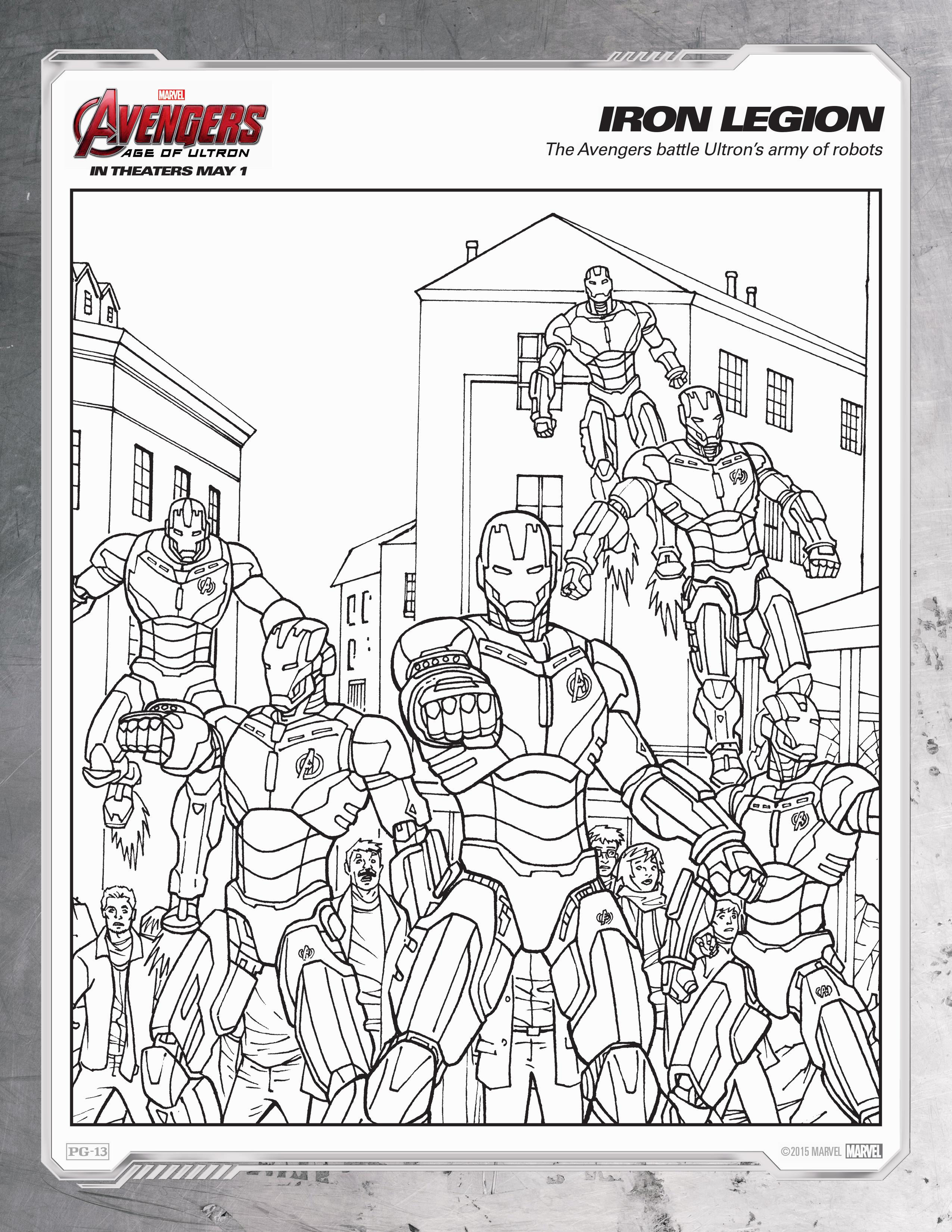 Age 9 coloring pages - Avengers Age Of Ultron Coloring Sheets 9