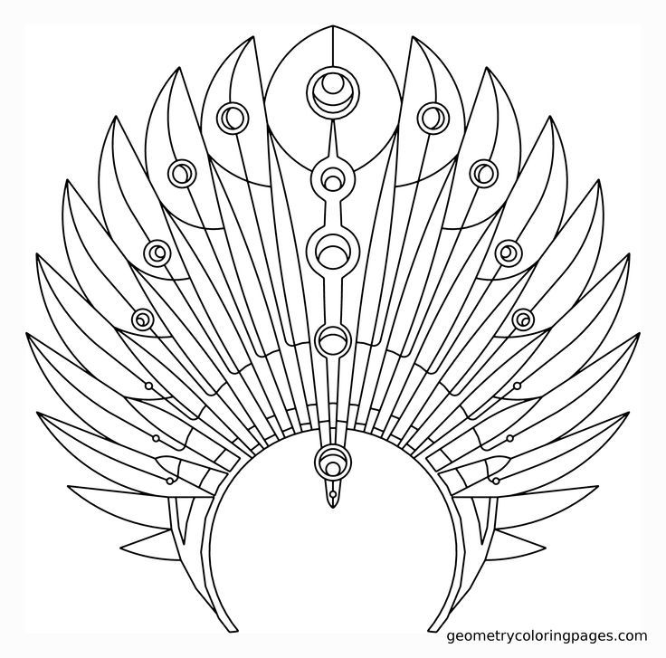 Indian headdress coloring page coloring home for Indian hat template