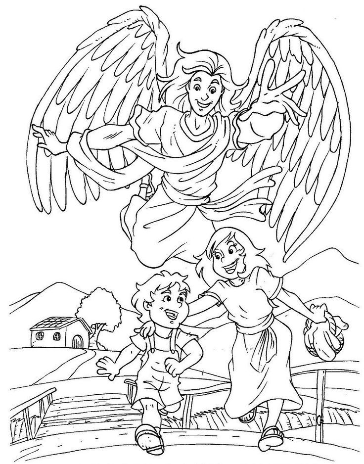 Male Guardian Angel Coloring Page Az Coloring Pages Guardian Coloring Page