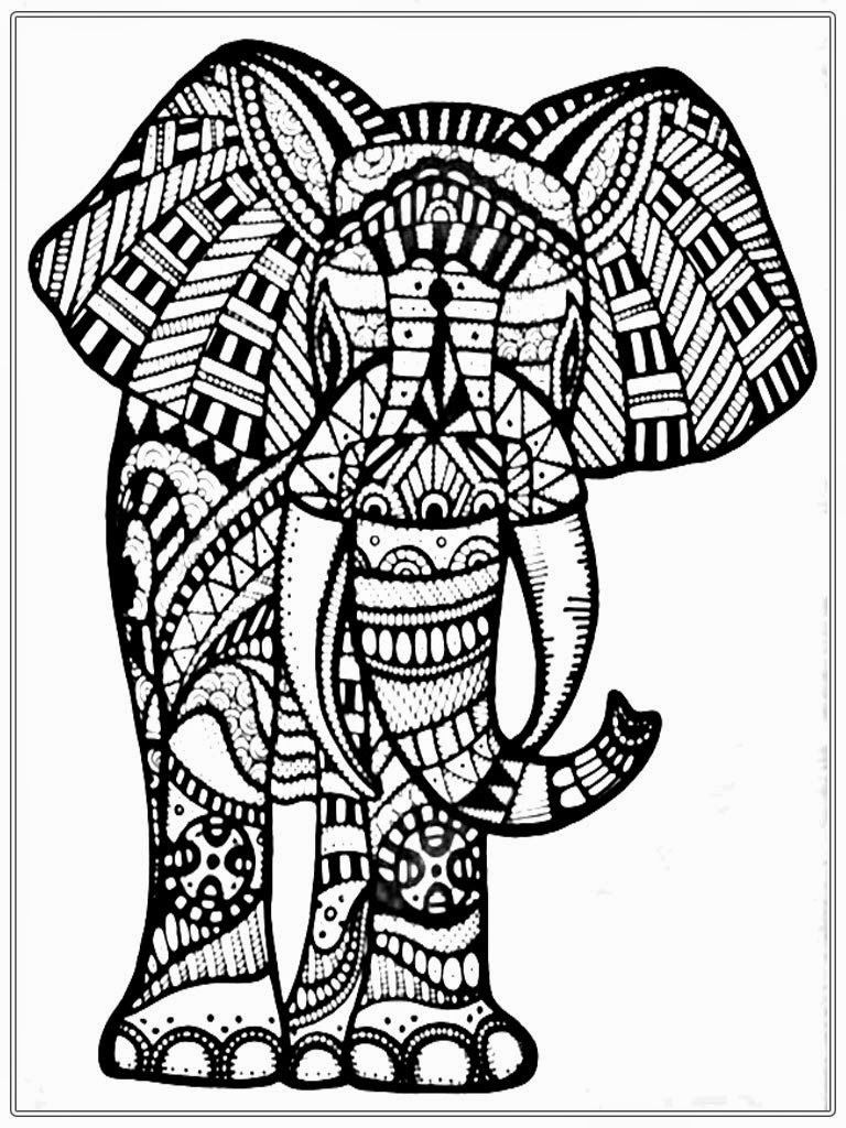 Free Printable Coloring Page Of Elephant - Coloring Home