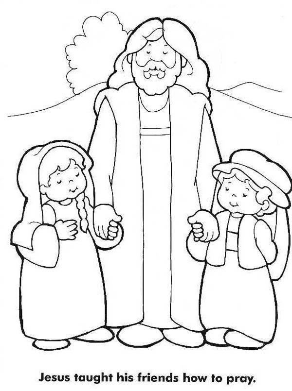 Jesus Loves Me Small Coloring Page