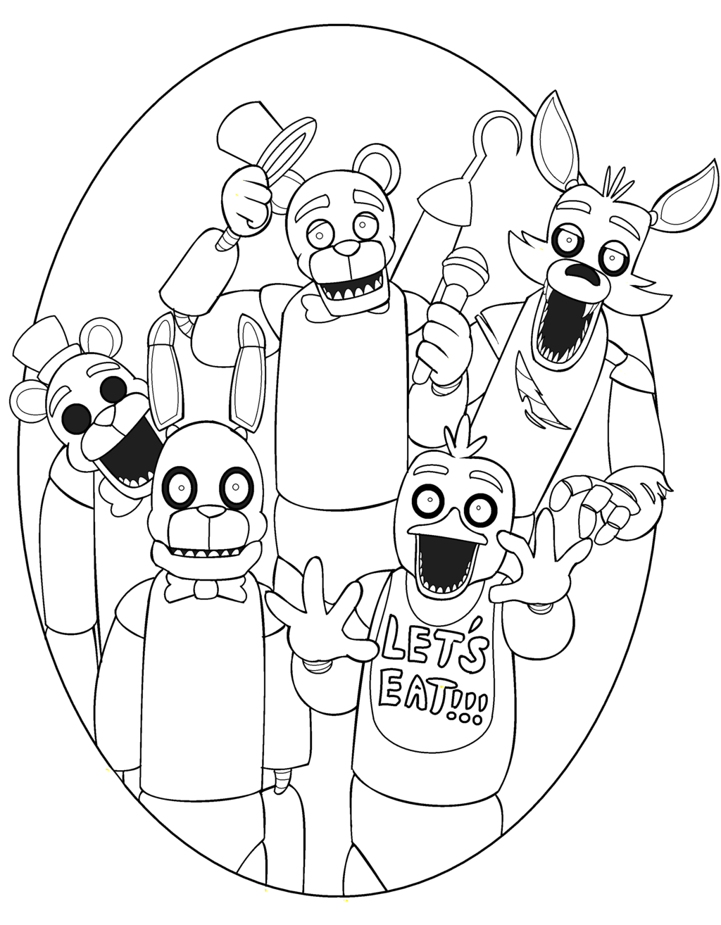 fnaf-coloring-pages-26 - Coloring Pages For Kids