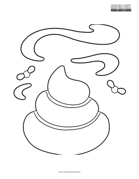 Google Poop Emoji Coloring Page - Super Fun Coloring