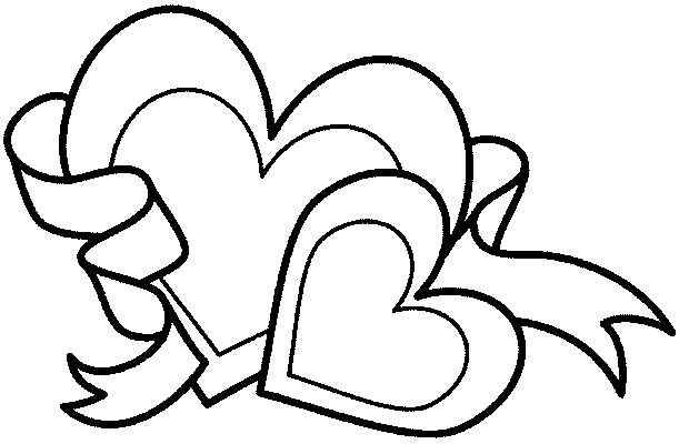 Free Coloring Pages Hearts - Coloring Home