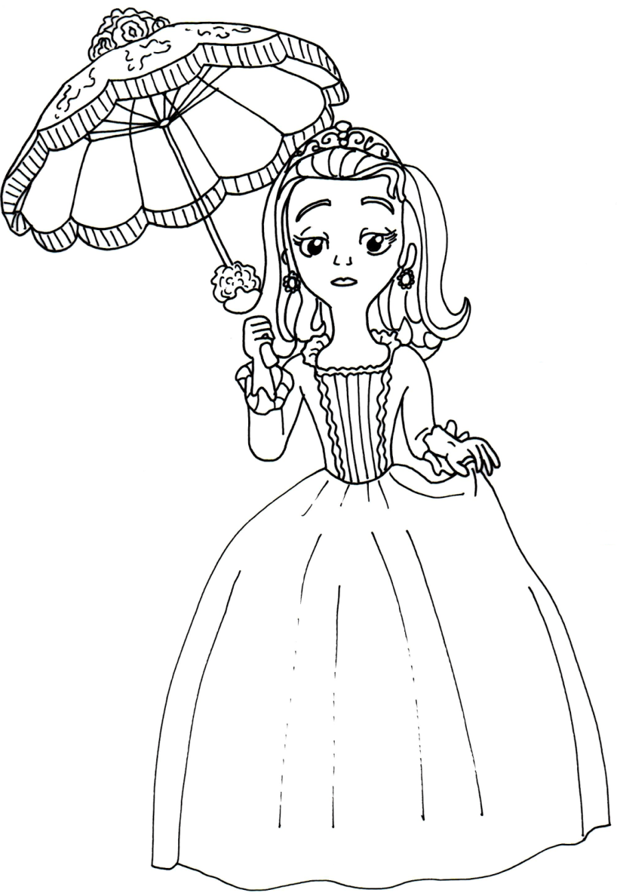 Sofia Coloring Pages Pdf : Sofia the first coloring pages cartoons printable