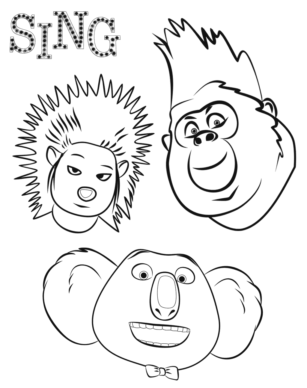 Sing Movie Coloring Pages Coloring