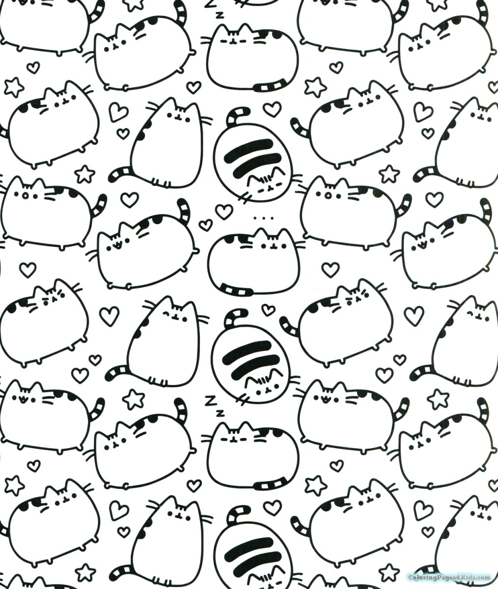 Doodle Coloring Pages Pusheen Coloring Pages Thanksgiving ...