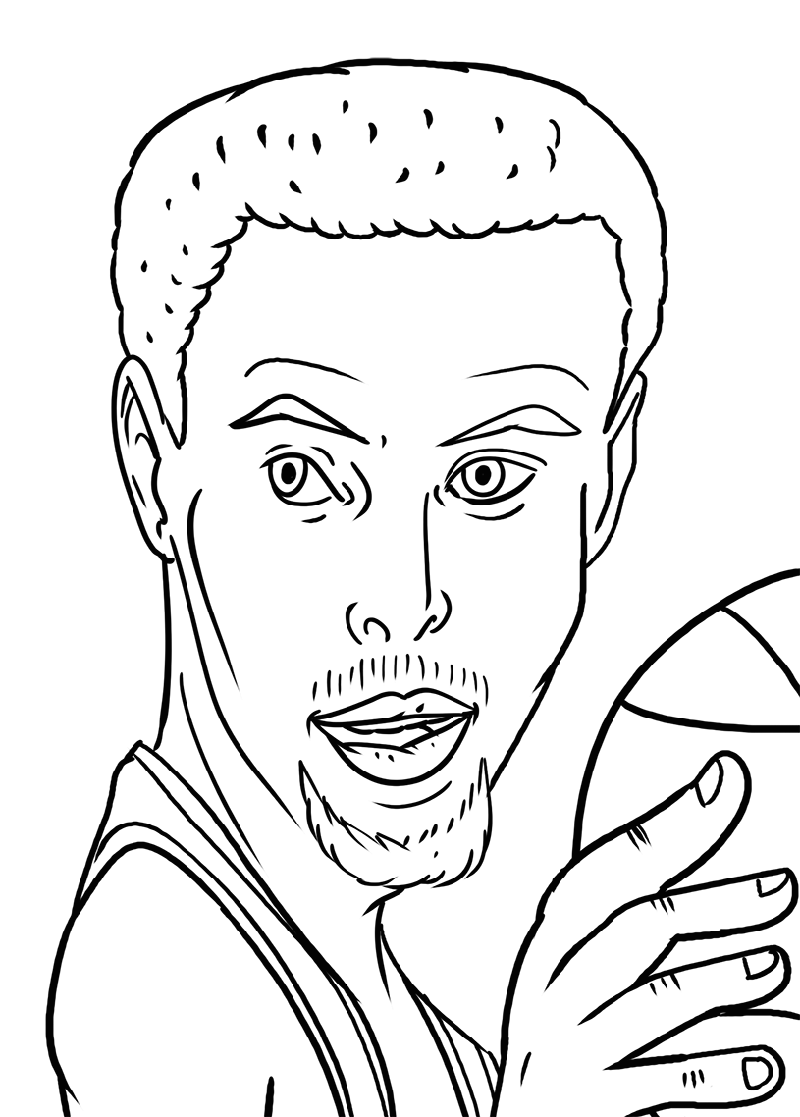 curry shoes coloring pages - Clip Art Library | 1117x800