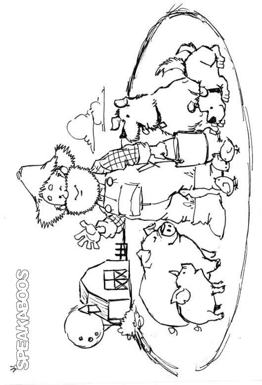 old mcdonald coloring pages - photo#2