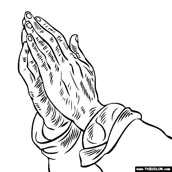 Zany image intended for printable praying hands