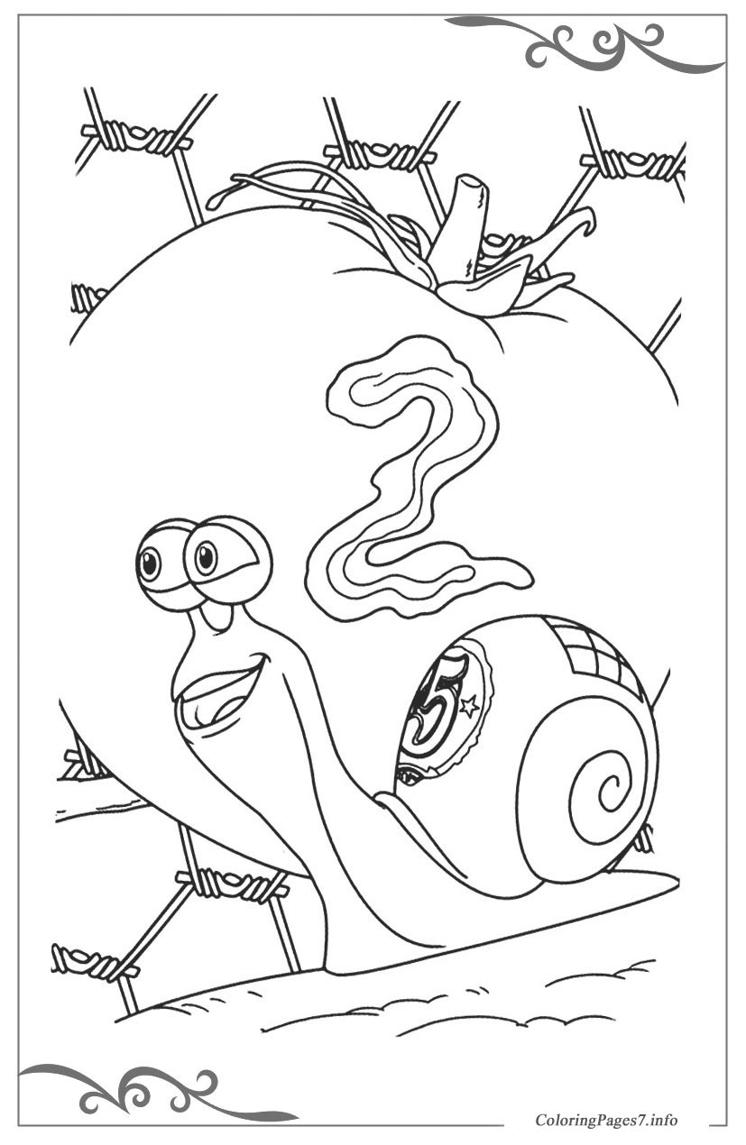 Turbo Free Coloring Pages for Kids