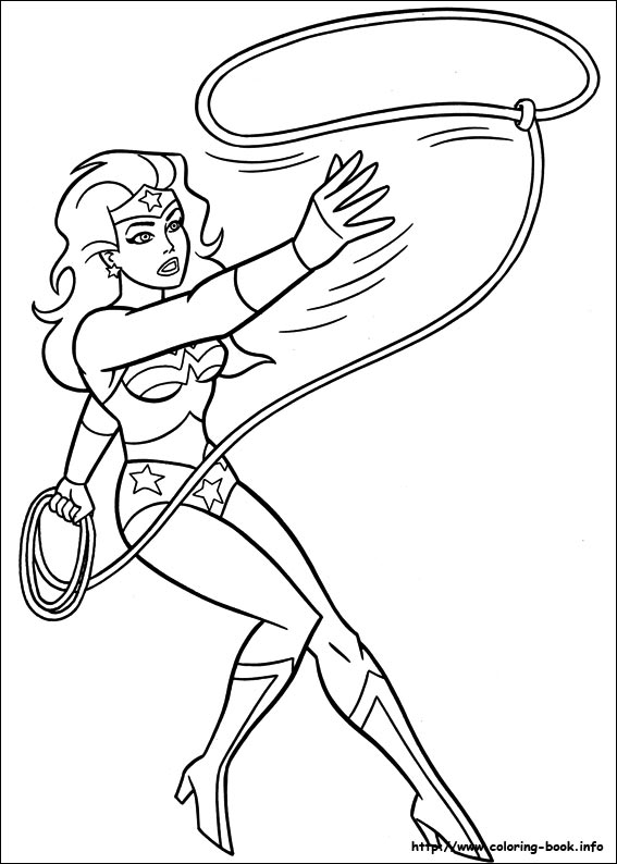 Wonder Woman Coloring Pages On Coloring Book Info Coloring Home