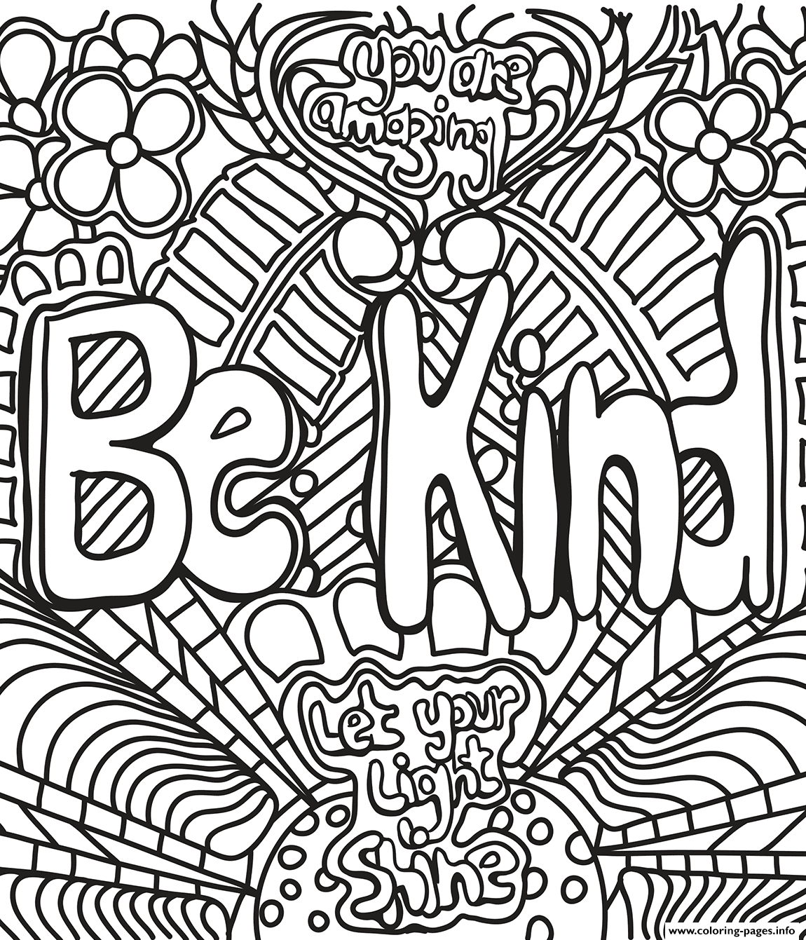 Be Kind Coloring Pages - Coloring Home