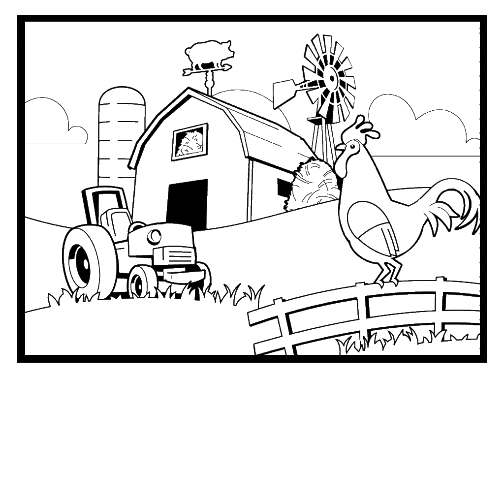 Farms Coloring Pages Coloring Home