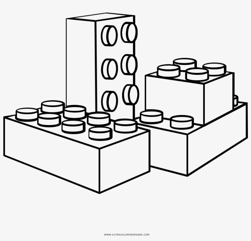 Blocks Coloring - Lego Block Coloring Pages PNG Image ...