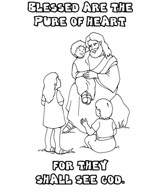 Beatitudes Coloring Page Coloring Home