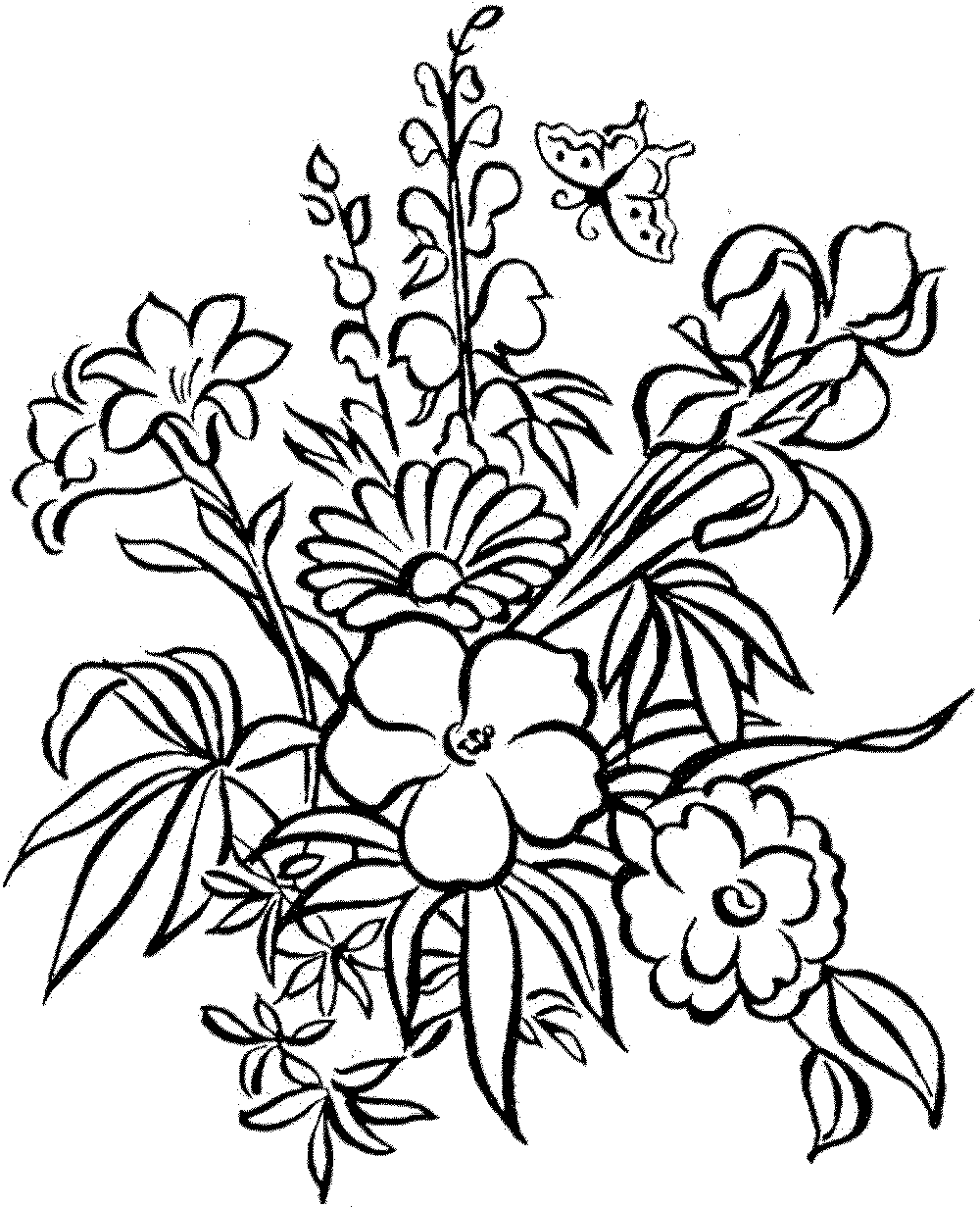 - Printable Coloring Pages For Adults Flowers - Coloring Home