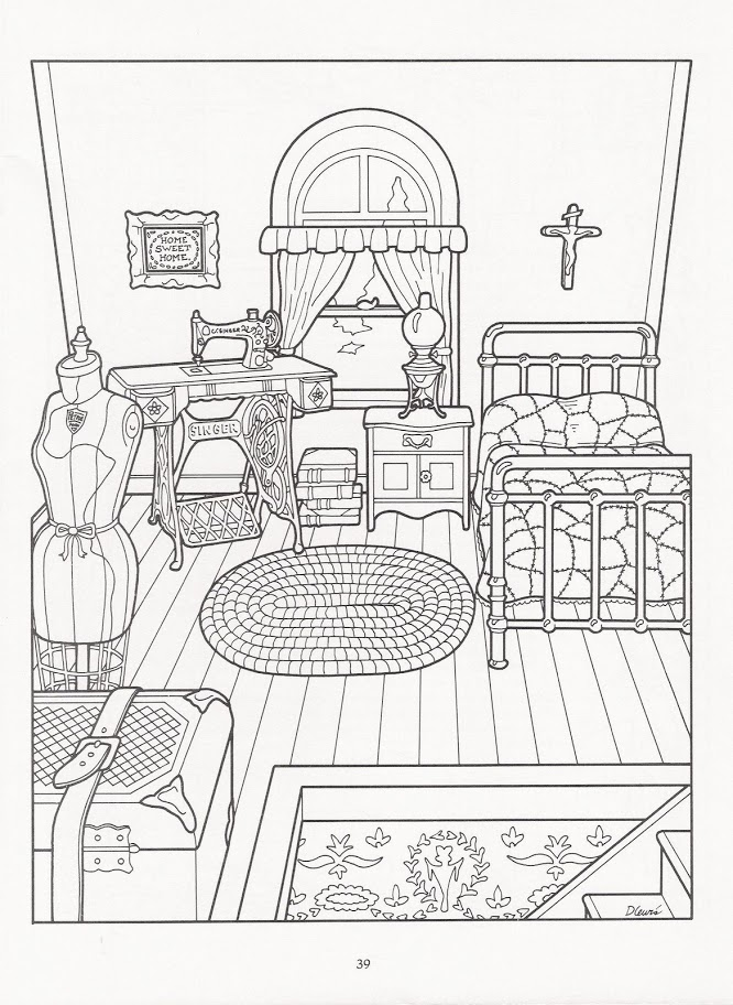 The Victorian House Coloring Book | Colorir interiores | Pinterest ...
