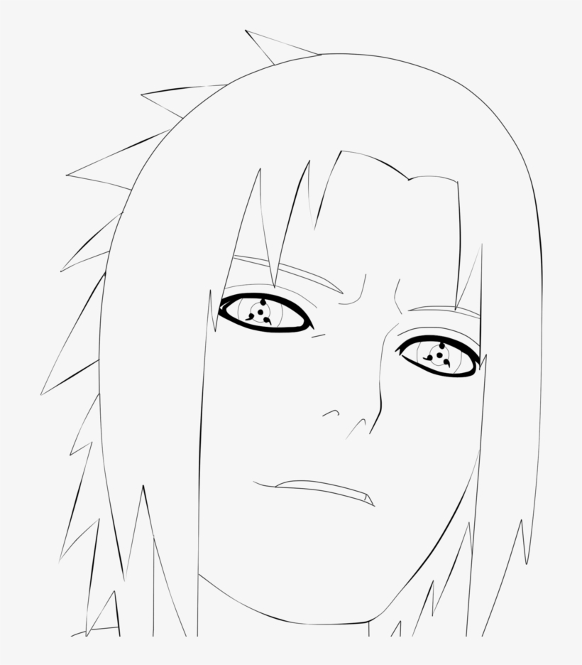 Sasuke Sharingan Coloring Pages Sasuke Sharingan By - Uchiha Clan ...