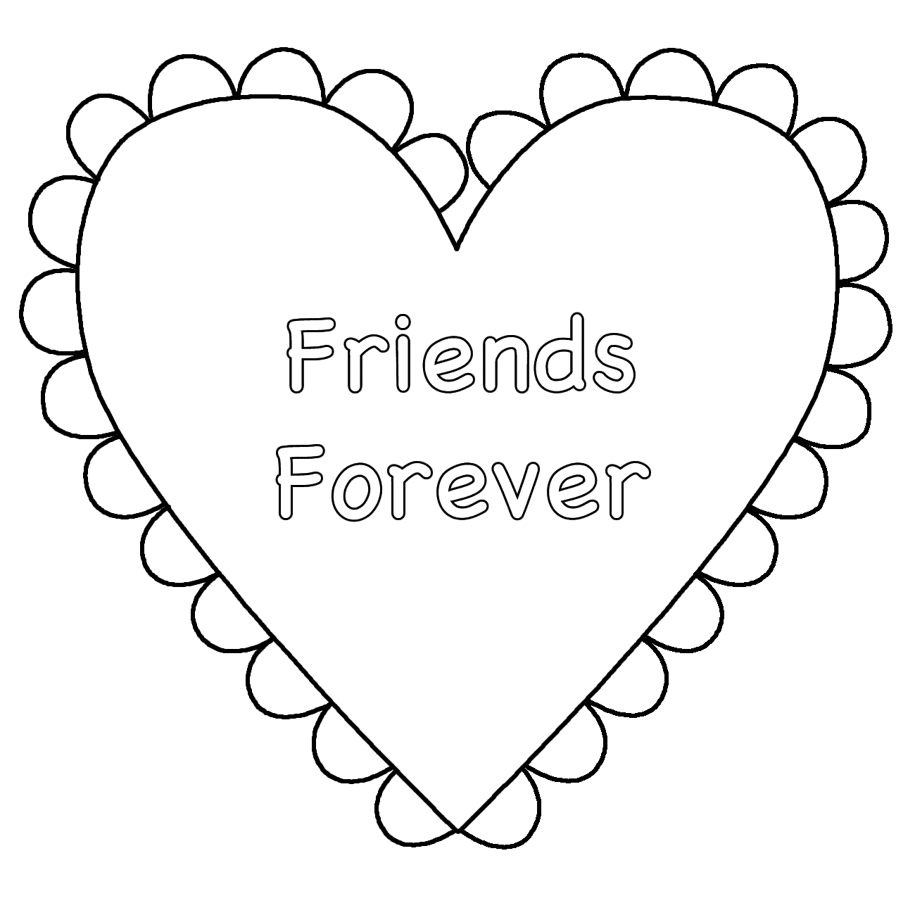Free coloring pages about friendship - Best Friendship