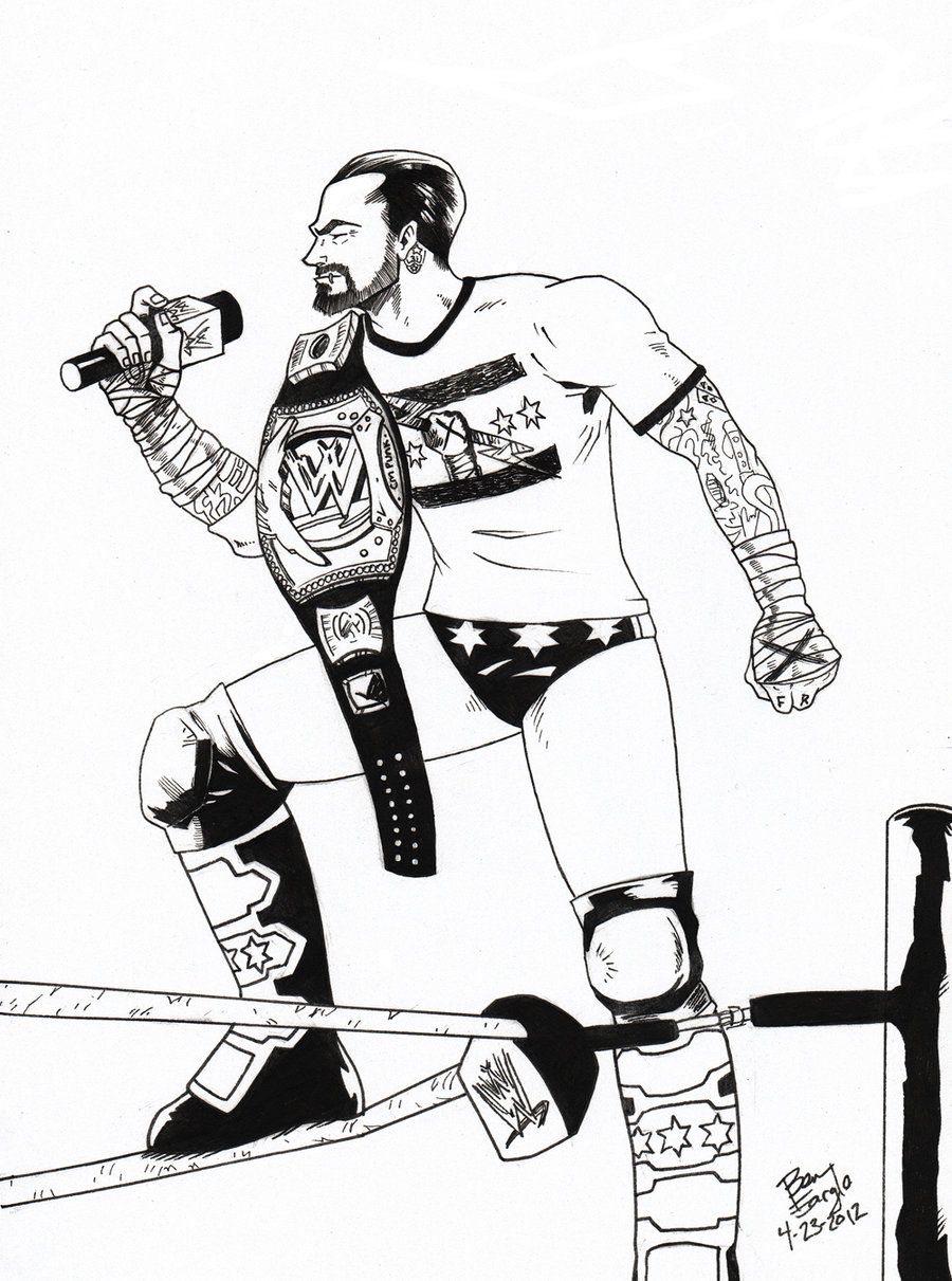Wwe Coloring Pages Cm Punk Coloring