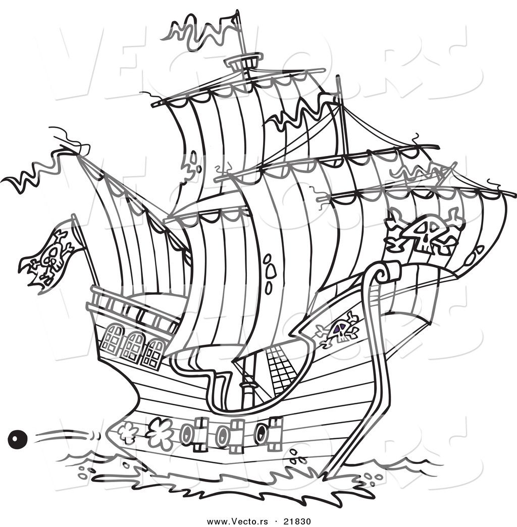 Cannon Pirate Coloring Pages - Coloring Pages For All Ages
