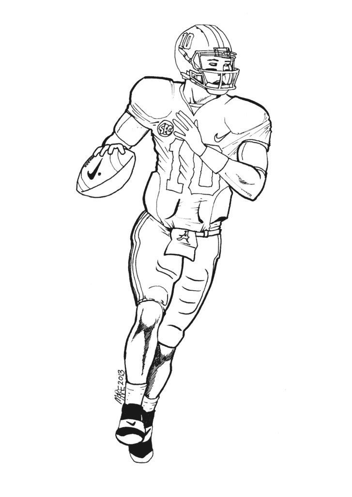 Cam Newton Football Player Coloring Pages €  Coloring Pics ...