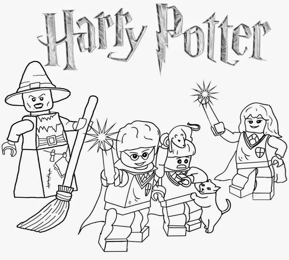 lego harry potter coloring pages for kids and for adults - Harry Potter Coloring Pages For Kids