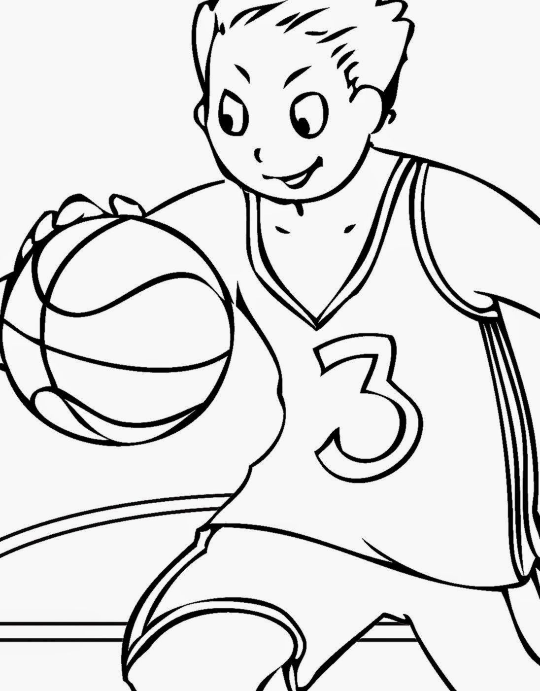 Basketball coloring pages printable coloring home for Basketball coloring page