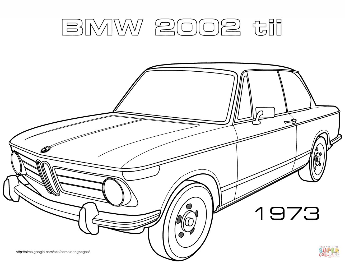 Coloring Pages Cars Bmw : Bmw car coloring pages az