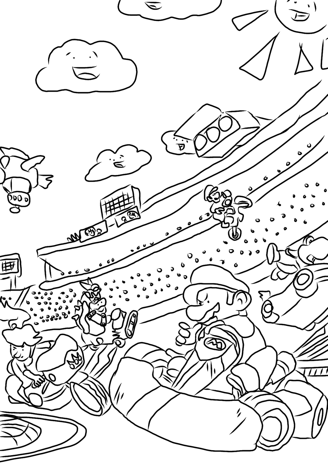 10 Pics of Super Mario Kart Coloring Pages - Mario Coloring Pages ...