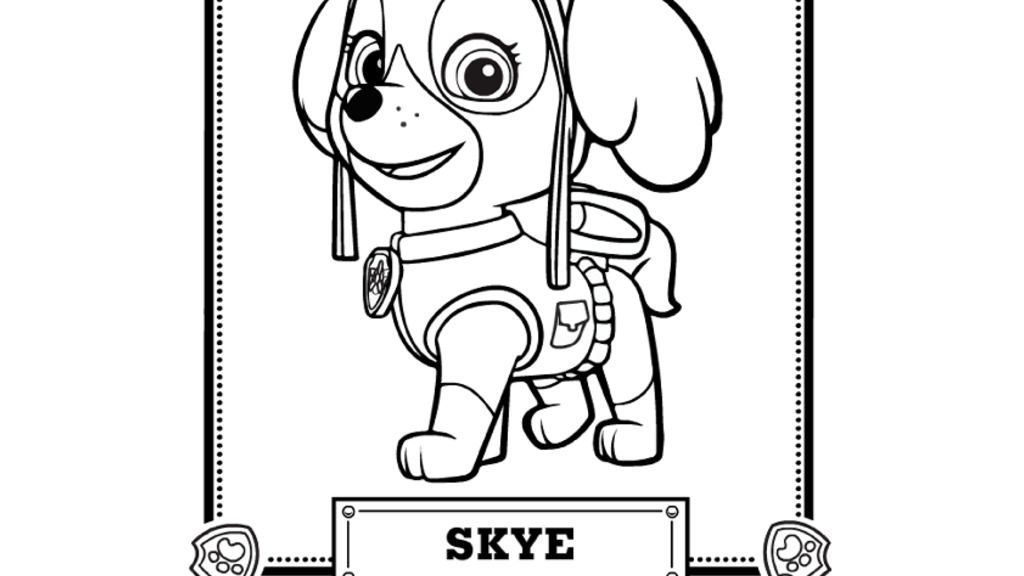 Quatang Gallery- Paw Patrol Skye Coloring Pages Coloring Home